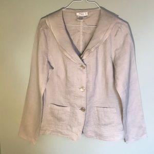 Tan linen blazer by Puli